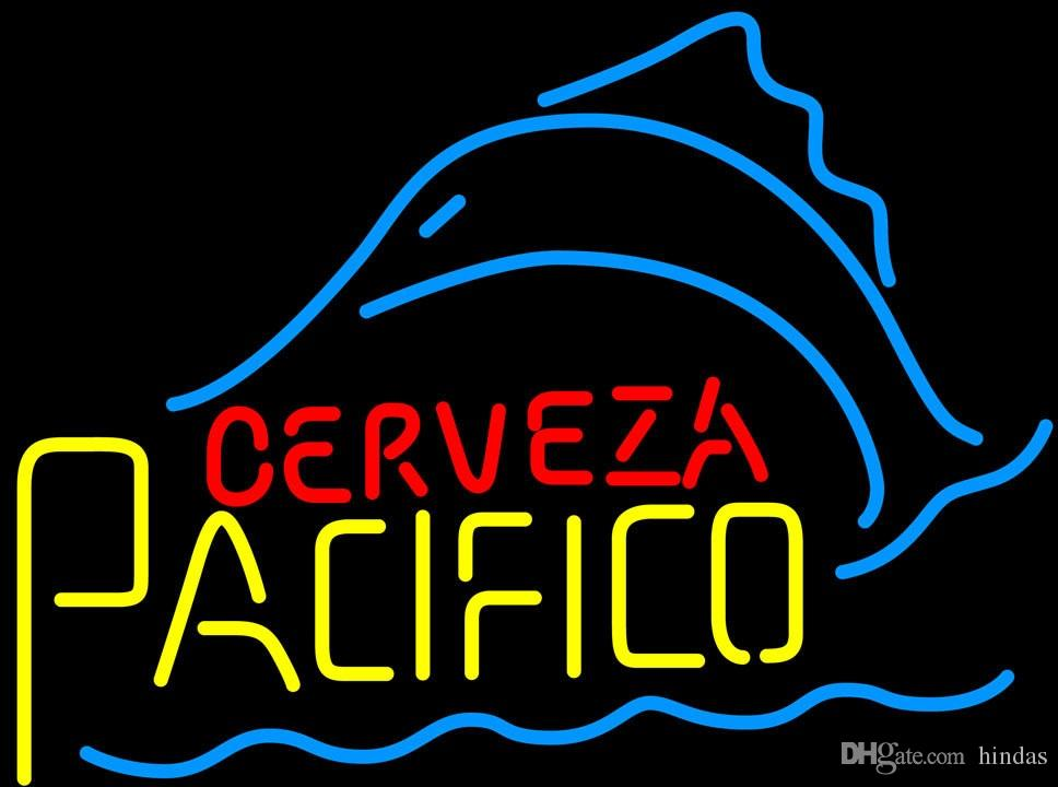 Cerveza Пацифико Sailfish неоновый знак 16x16