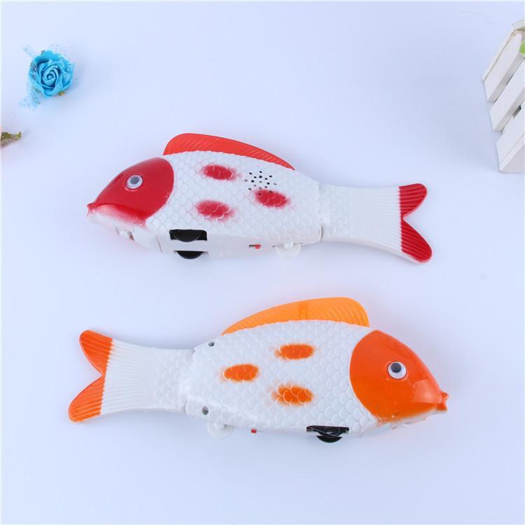 Xinqite run electric music light fish will run yaotoubaiwei electric fish fish free toys