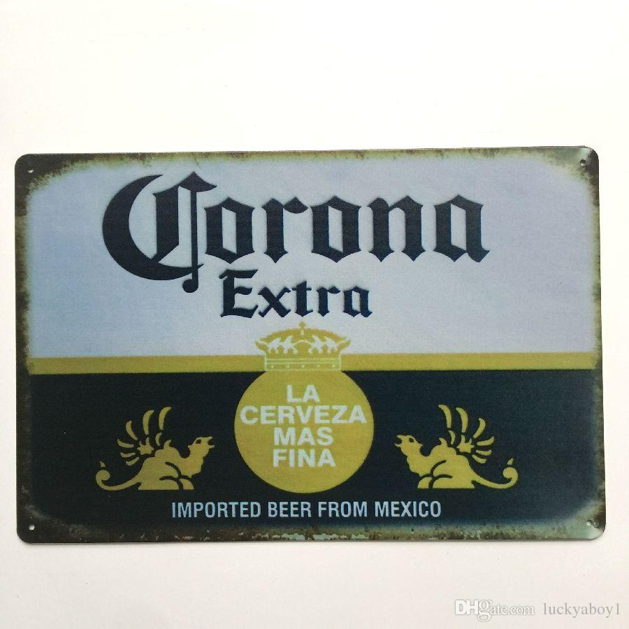 Corona Extra Retro Vintage Metal Tin sign poster for Man Cave Garage shabby chic wall sticker Cafe Bar home decor