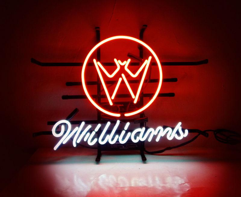 "17""x14"" WILLIAMS PINBALL ARCADE Handcrafted Real Glass Tube BEER BAR GAME ROOM NEON LIGHT WALL SIGN"