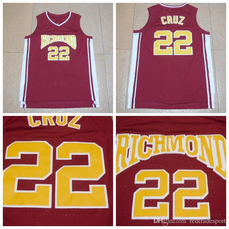 Hombre Timo Cruz 22 Richmond High Coach Carter Cartel Basketball Jersey cosido Nuevo Tamaño rojo S-XXL