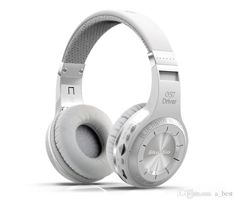 원래 Bluedio H + 무선 블루투스 헤드폰 4.1 스테레오 스튜디오 무선 헤드셋 내장 마이크 핸즈프리 통화 및 음악 스트리밍