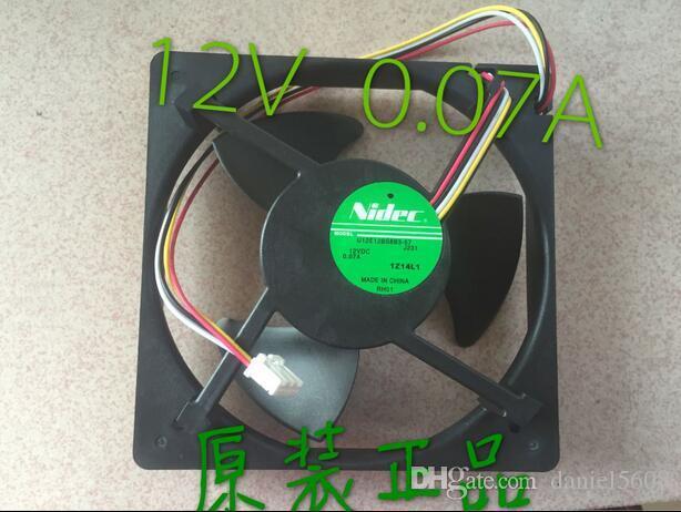 NIDEC U12E12BS8F3-57 J232 12v0.07A waterproof mute fan