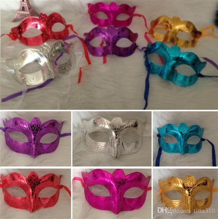 Оптовая торговля-новые производители, продающие праздничные принадлежности маскарадная маска маскарадная вечеринка Хэллоуин маска простая гальваника венецианские маски I062