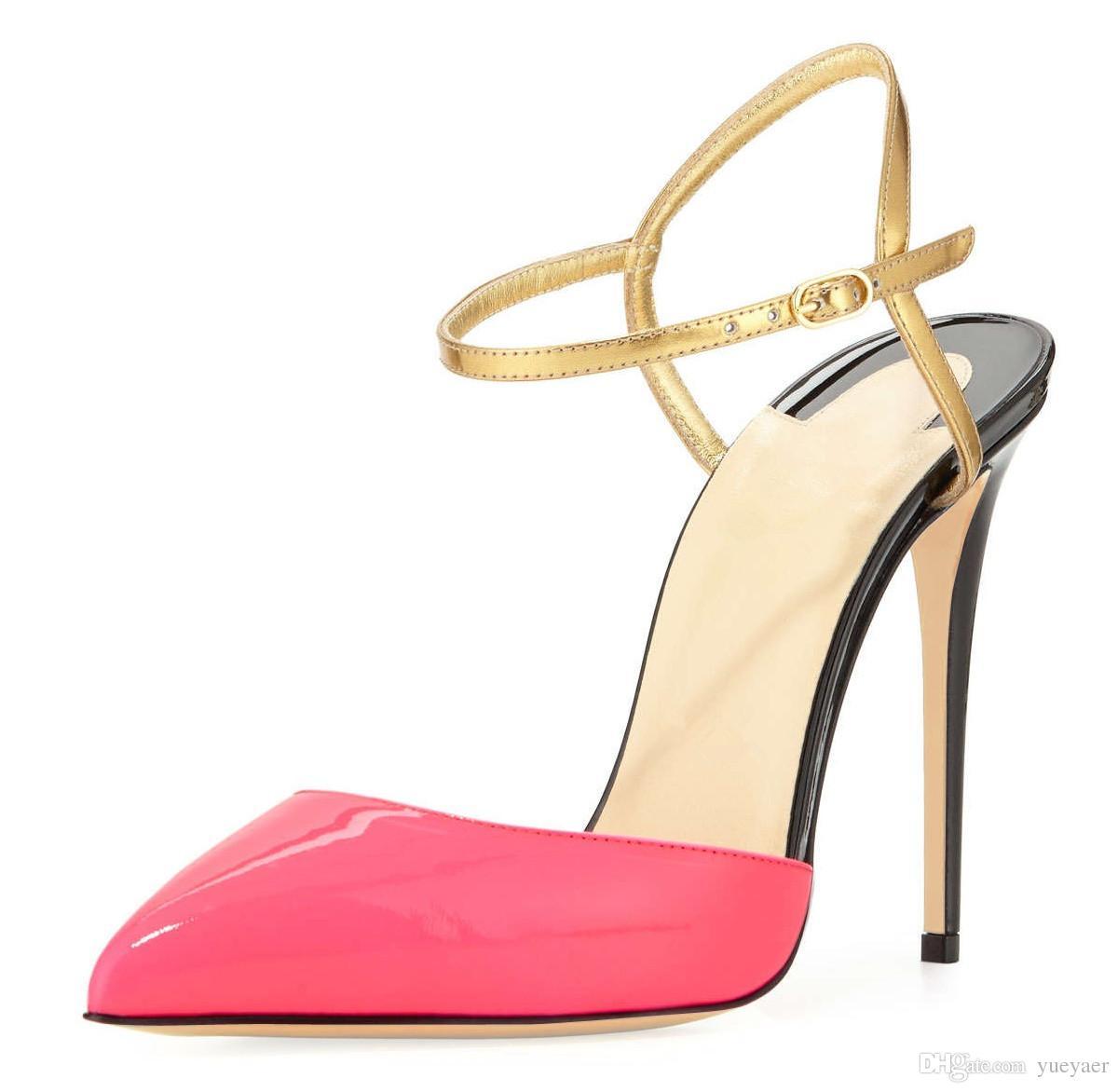 Zandina Femmes Dames De Mode À La Main 10cm Slingback Sandales À Talons Hauts Soirée De Dressing Stiletto Chaussures Rose K309