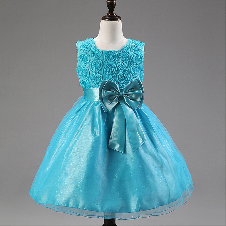 Chenlvxie New Bow Flower Fall Lace Flower Girl Dresses For Weddings ...