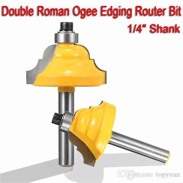 Cortador do Woodworking do bocado do router da afiação de Ogee Roman do dobro da pata de 1/4 de polegada