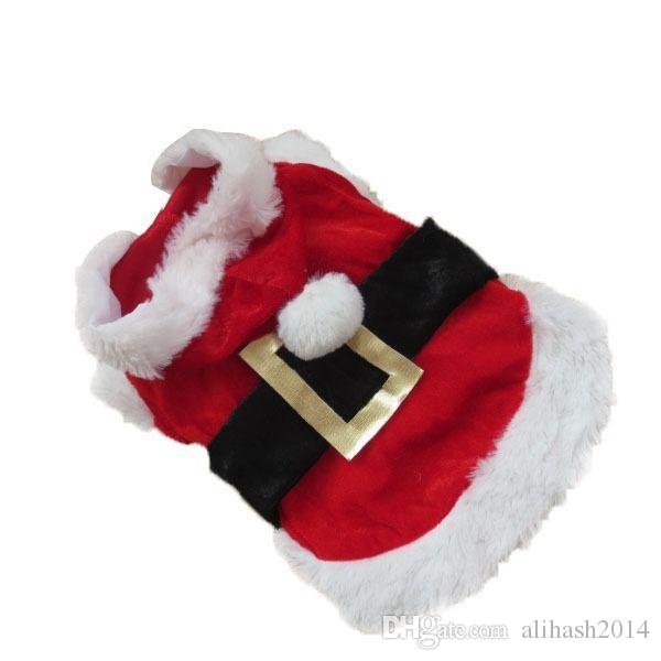 Factory Price! Pet Christmas Clothes Outwear Coat Apparel Puppy Dog Santa Claus Costume Hoodie