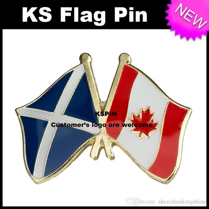 Pin 10pcs della bandiera del distintivo della bandierina della Scozia il Canada libera il trasporto XY0049