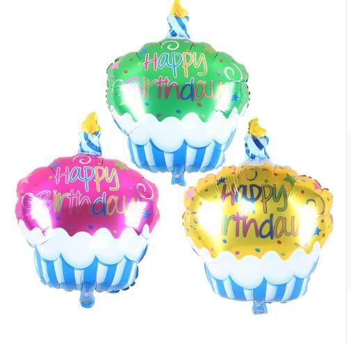 Fantastic Birthday Cake Candle Air Balls Helium Foil Balloons Happy Birthday Funny Birthday Cards Online Sheoxdamsfinfo