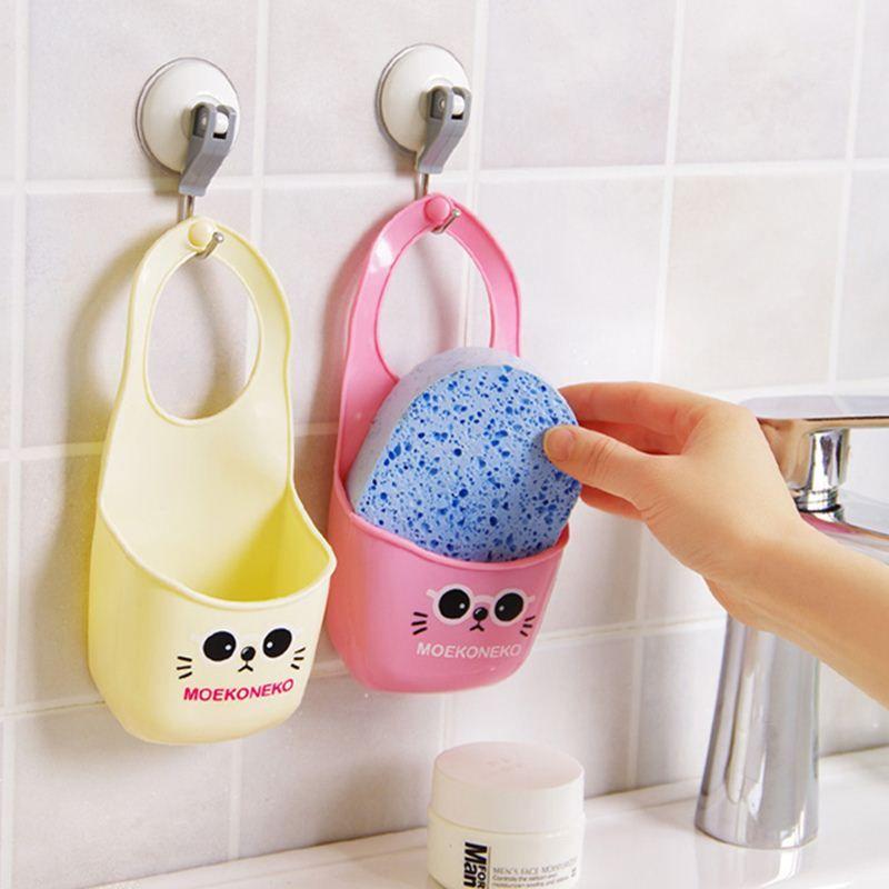 3 PCS/SET Toilet soap shelf Organizer wash cloth Sponge storage rack basket kitchen gadgets Accessories Supplies Items Product