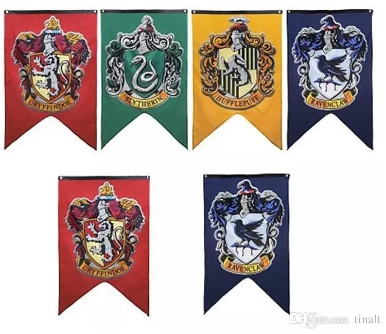 Motivo Grifondoro bandierine da Parete di Hogwarts Tassoro 30 * 50 inch a Doppio Strato Serpeverde per Interni ed Esterni Corvonero Harry Potter Ultra Premium 2019 Upgrade-E 76,2 x 127 cm