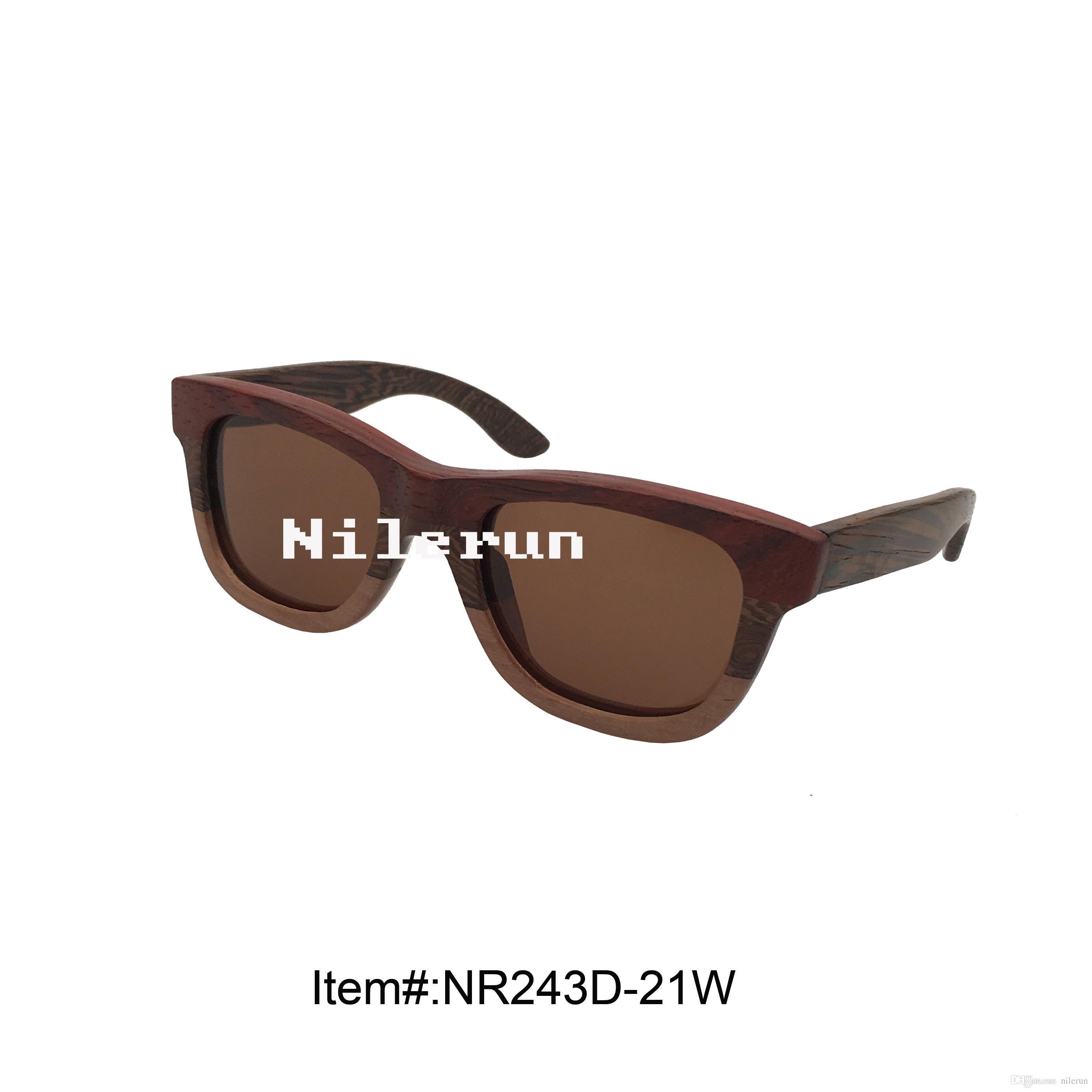 occhiali da sole impiombanti in legno