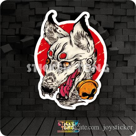 Japanp Fox STICKER ( repeating bike skateboard deck notebook laptop car wall Motorcycle stickerbomb Fixed Gear)
