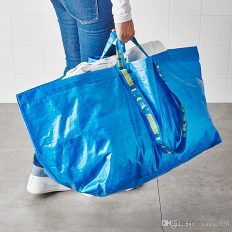 10pcs Grande Shopping Bag Lavandaria do mantimento de armazenamento reutilizável FRAKTA Strong