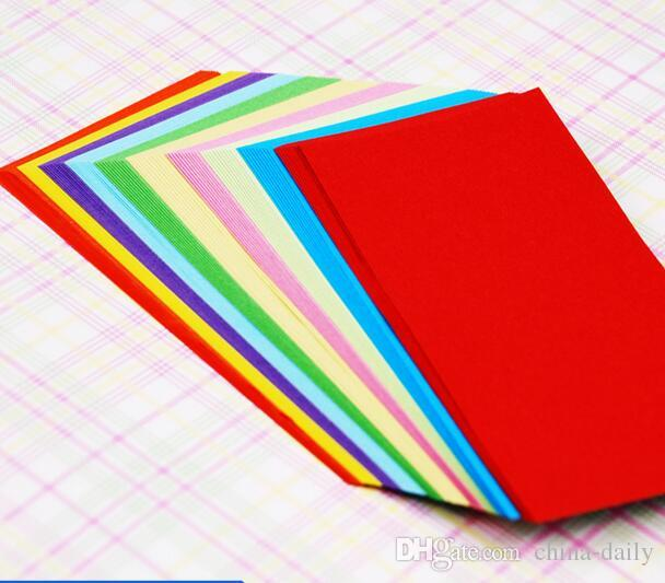 Navio livre 500 pcs 6 * 12 cm 10 cores Origami Papel Dupla Face Artesanal de Papel Dobrável para Artesanato Soco Papel Ferramentas de Presente de Natal