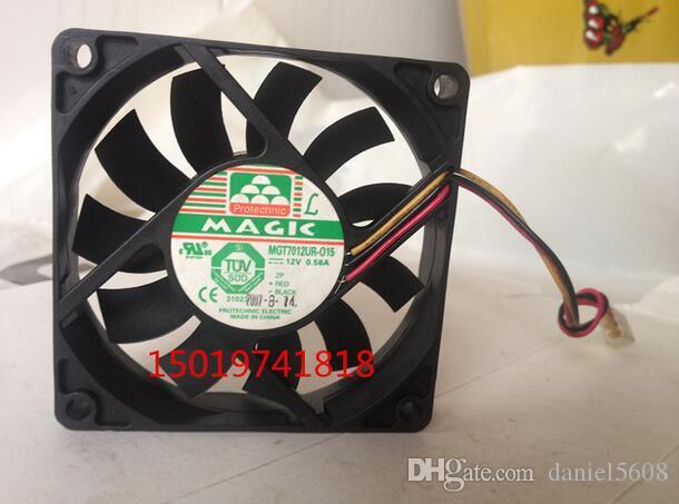 MAGIC MGT7012UR-015 12V 0.58A 7015 7CM 3 fils châssis de ventilateur grand ventilateur