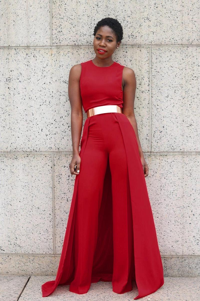 2019 Rompers Womens Jumpsuit 2017 New Sleeveless Personalized Cape Overalls For Women Red Jumpsuit Romper Long Pants Women Mk70322 From Shadowking