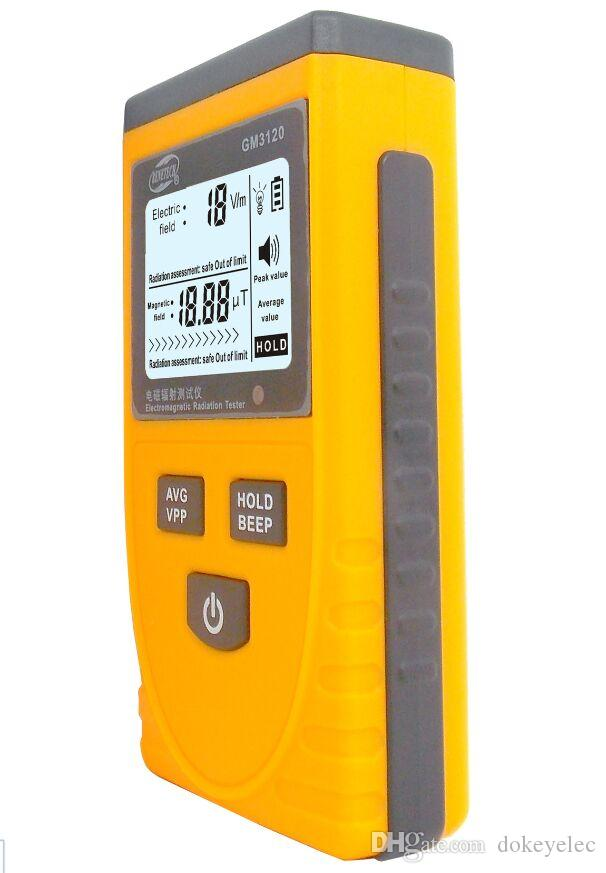 Freeshipping Digital LCD Sound-light Alarm Electromagnetic Radiation Detector Meter Dosimeter Tester Counter