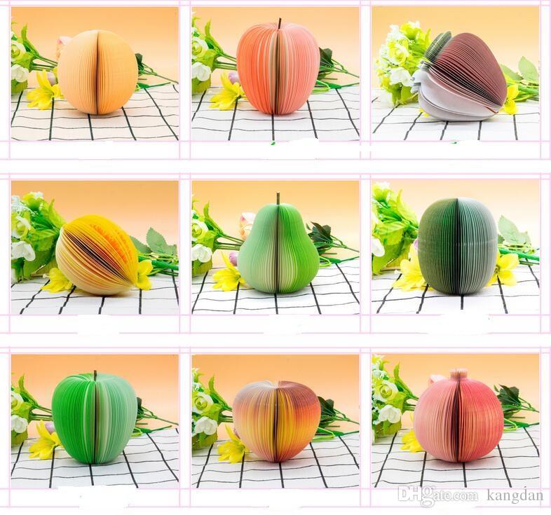 참신 야채 과일 스티커 메모 메모 패드 스티커 메모장 포스트 노트 종이 메모장 다른 스타일 메시지 메모지 선물