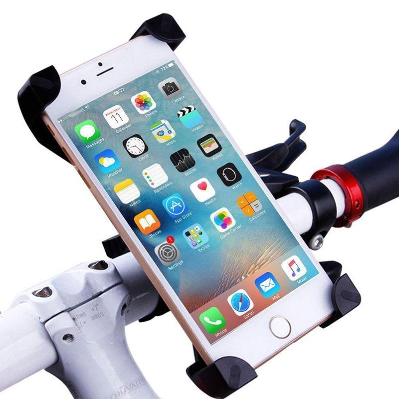 Evrensel Bisiklet Bisiklet Telefon Tutucu Standı Montaj Braketi Gidon Klip Standı Akıllı Cep Cep Telefonu Için 360 Derece Dönebilen güvenli