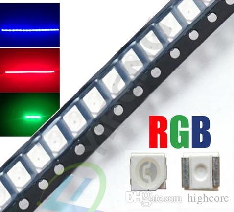 Mix SMD 3528 Dioda LED czerwony / zielony / niebieski / żółty / biały / ciepły biały itp