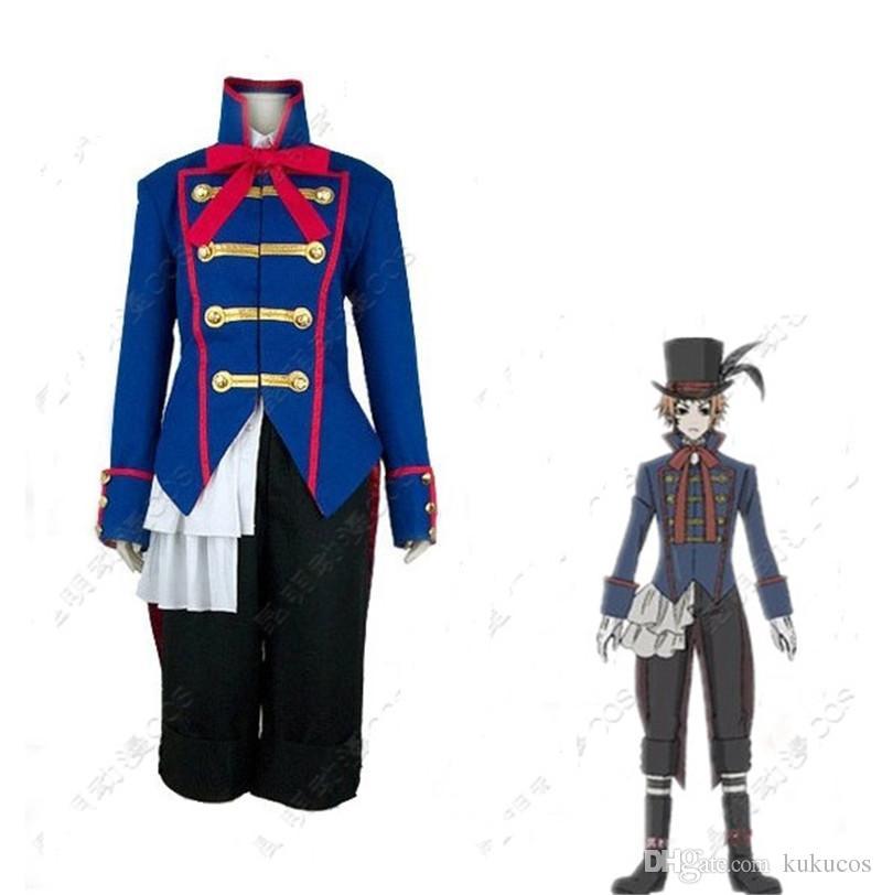 Kukucos Anime Costume De Fête De Halloween Noir Butler Kuroshitsuji Drocell Cosplay Costume Manteau Pantalon Ensemble
