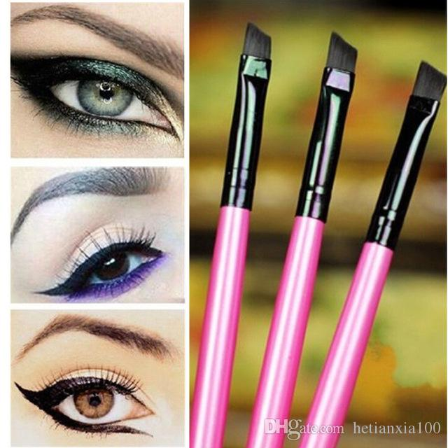 3pcs / lot Super macio Professional Oblique Maquiagem Sobrancelha Pincel Sombra Blending angular escova Comestic Maquiagem Ferramenta