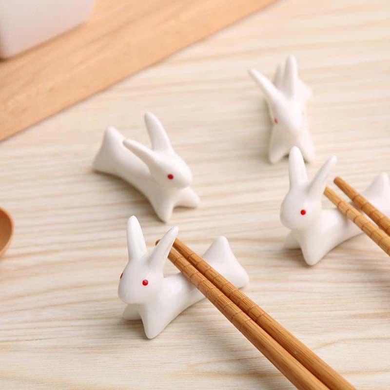 Wholesale Ceramics Chopsticks Spoon Forks Knife stent home kitchen table chopsticks Rack animal ornaments free shipping