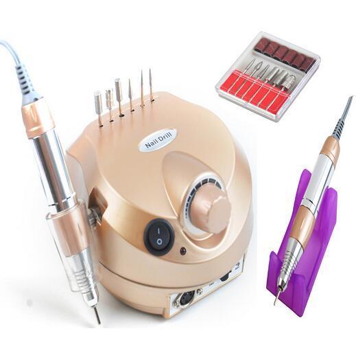 Toptan-110/220 V 35000 RPM Pro Elektrikli Tırnak Matkap Dosya Bit Makinesi Manikür Seti Pro Salon Ev Tırnak Araçları Set Ücretsiz Kargo