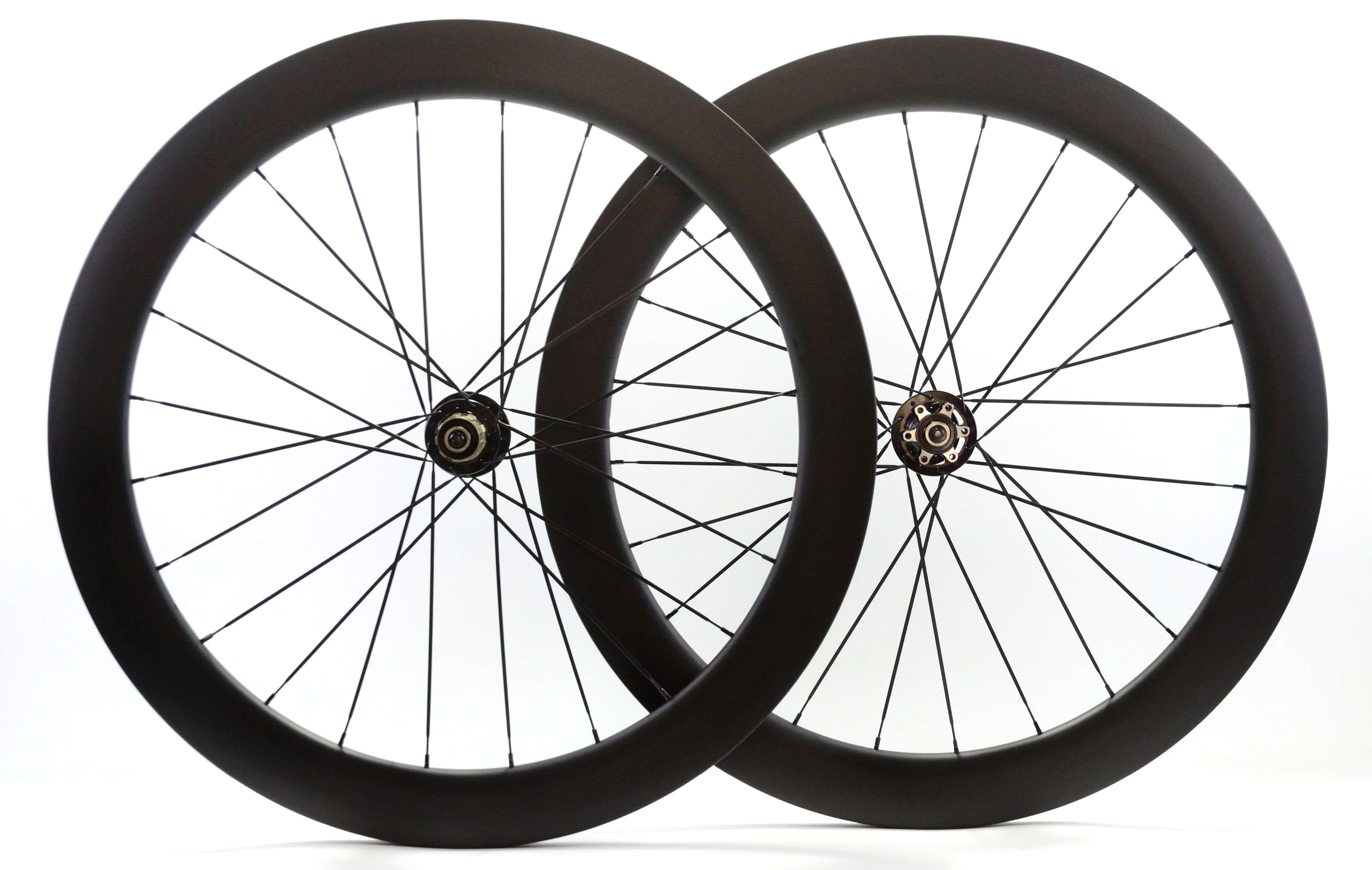 Roues de fibre de carbone 700C profondeur 60mm frein frein à disque roues 25mm largeur pneu roue vélo de route avec moyeu 791/792