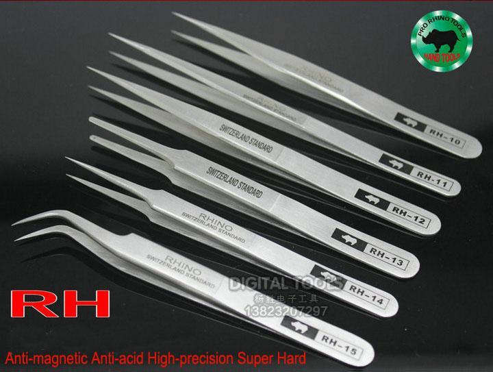 Japan RHINO Marke RH Serienpinzette Antimagnetische Antisäure Hochpräzise Super Hart Scharf Für Reparatur Uhr oder Pick Vogelnest