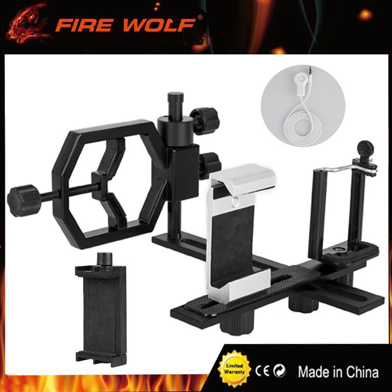 النار الذئب تلسكوب محول كاميرا الهاتف الذكي محول متعدد الوظائف مع 3 قوسين الهاتف لاكتشاف نطاق مجهر أحادي