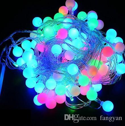 Coversage 10M 100 Led Festoon Christmas Tree Garland String Xmas Decoration Ball Led Curtain Navidad Curtain Fairy Lights Holiday