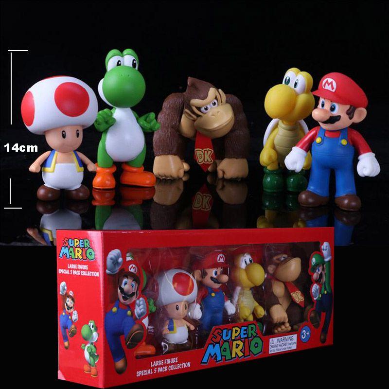 2020 Super Mario Toy Bros Peach Toad Mario Luigi Yoshi Donkey Kong