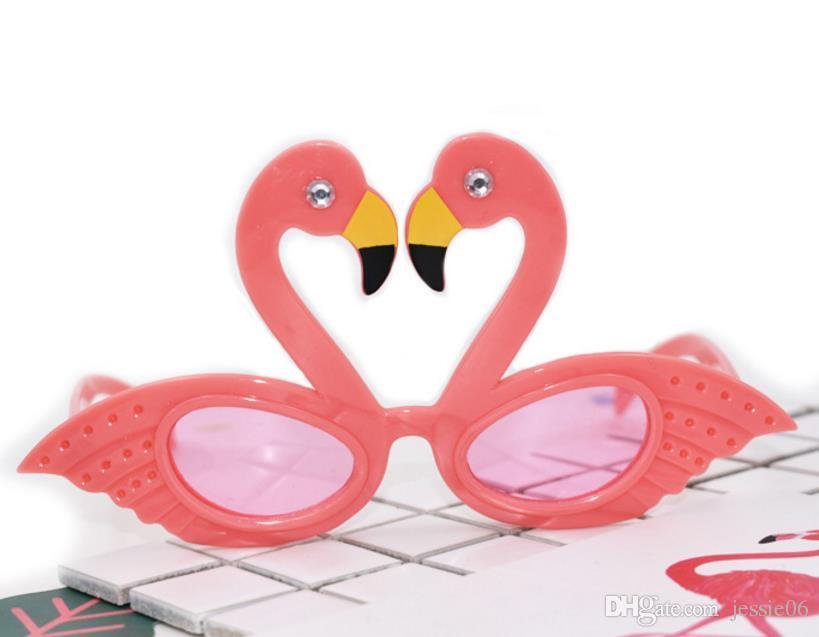 Faveur cocktail rose nouveauté soleil lunettes de soleil hawaiian poules tropical beach lunettes robe anniversaire fête mariage Flamingo fantaisie paillettes babbw