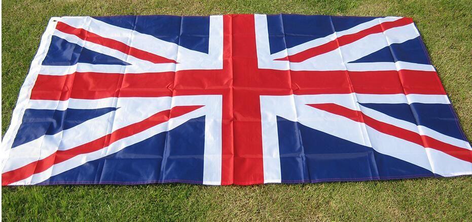 Fahnenfreies Verschiffen aerlxemrbrae Markierungsfahne britische Fahnenflagge 5 * 3FT Großbritannien-Polyster-Flagge des Vereinigten Königreichs