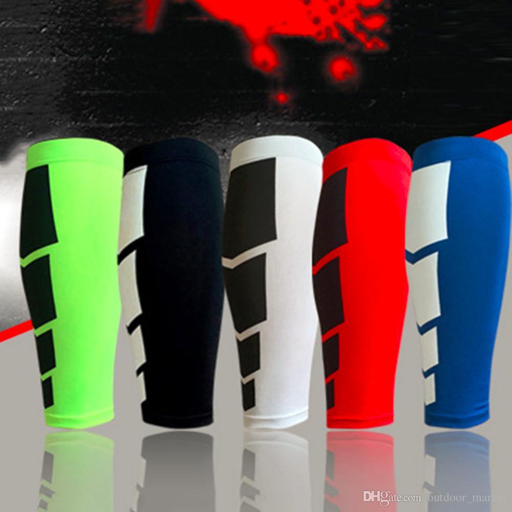 1 PC футбол Баскетбол Спорт Велосипед Теленок Leg Brace поддержки Stretch рукава Сжатие Упражнение гетры Бесплатная доставка