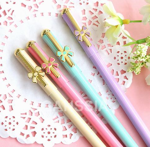 Toptan-Kawaii metal serisi jel kalem 0.5mm Şeker renk stil kalemler Ofis aksesuarları Okul kız hediye kırtasiye malzemeleri (ss-1255)