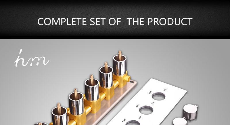 Bathroom Shower Valve Large Water Flow Solid Shower Accessories 5 ways Chrome Brass Panel Diverter Faucet Tap Shower Controller (22)