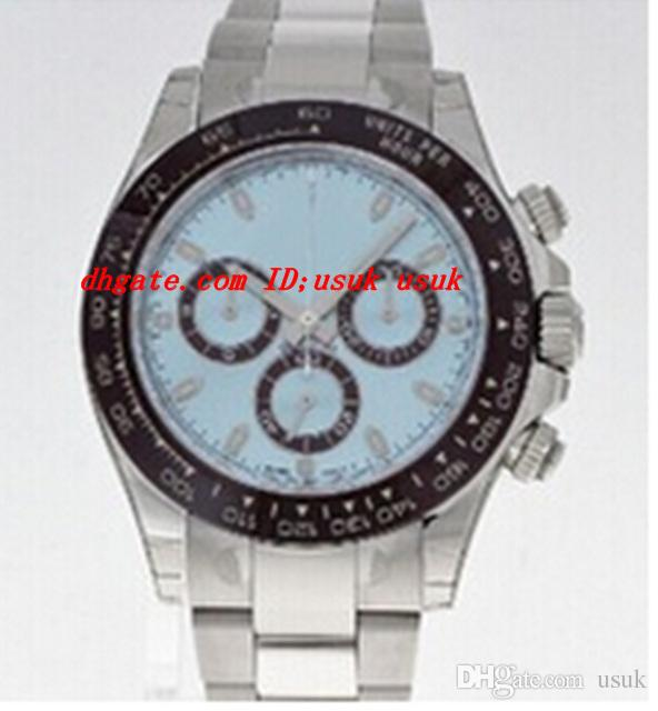 Luxury Wristwatch Brand In Box Ceramic Bezel 116506 Blue Dial Stainless Steel Bracelet Automatic Mens Watch Men's Sport Watches