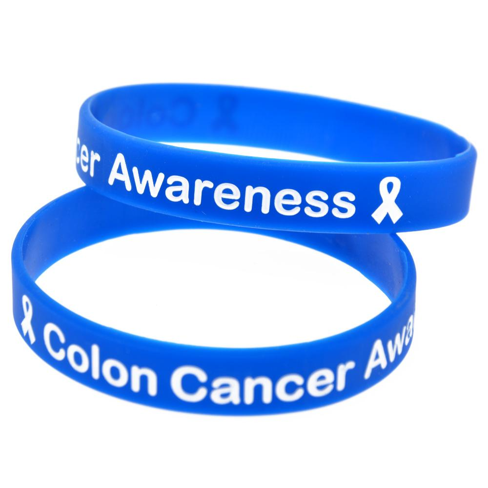 2020 Colon Cancer Awareness Silicone Rubber Wristband Adult Size Wear It Show Your Support For Them From Vickylzq 31 48 Dhgate Com