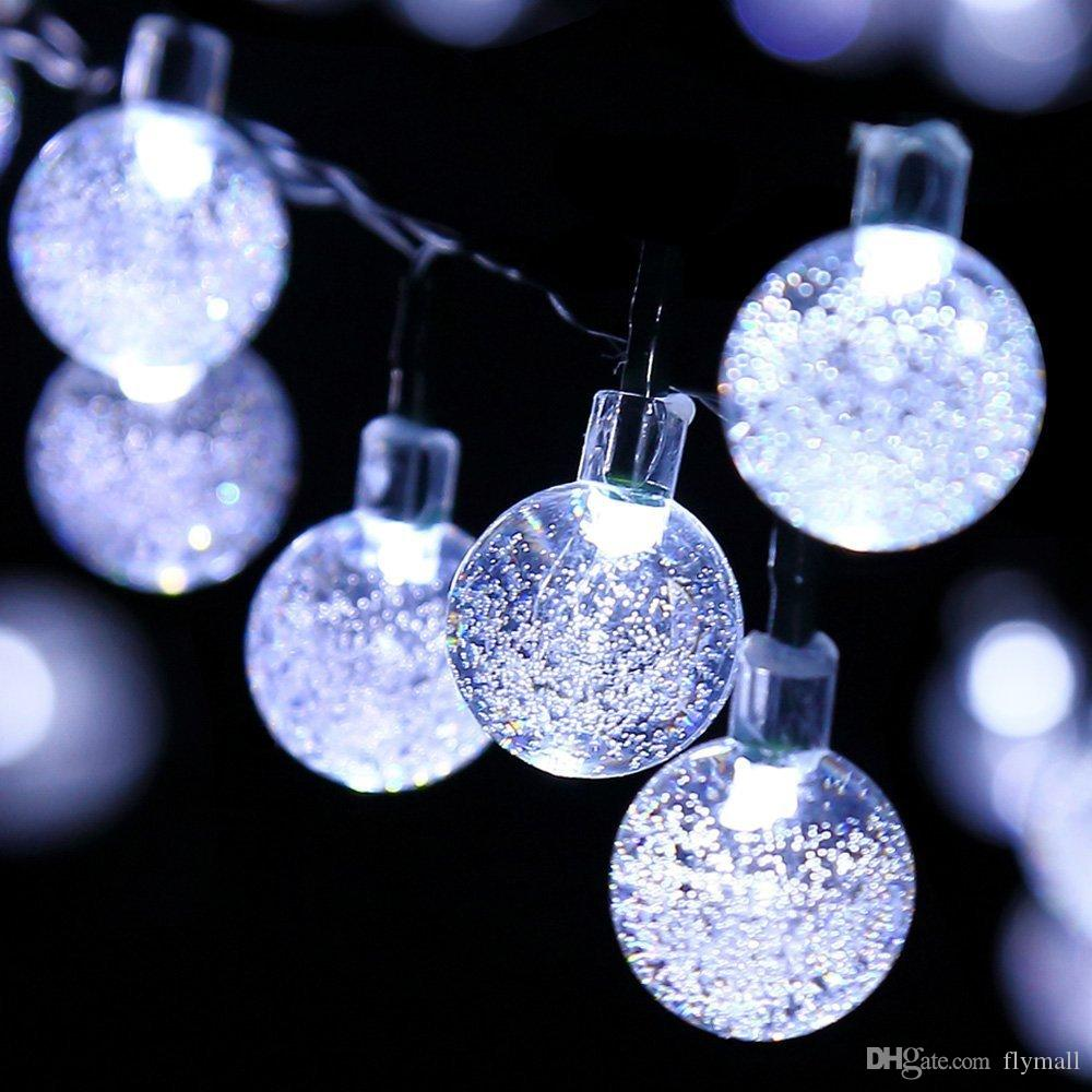 30 LED Solar Powered Moroccan Ball String Lights Outdoor Fairy String Light UK
