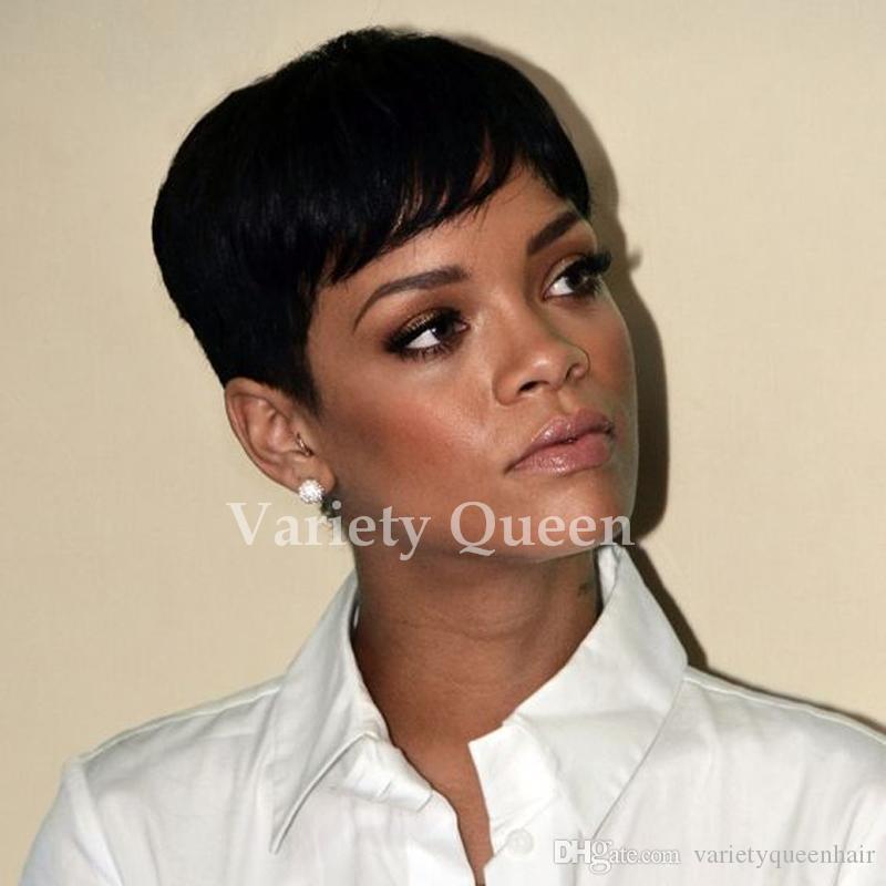 شعر الإنسان الباروكات مستقيمة قصيرة للنساء السود رخيصة كامل الرباط الباروكات البرازيلي عابث قطع الشعر البشري البرازيلي 100 ٪ باروكات الشعر البشري