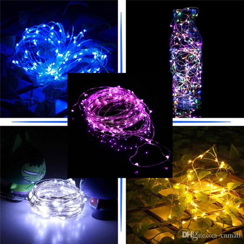 2M/3M/4M Party Xmas led 3*AA batteries Power Operated 20 30 40 LEDs copper wire(with silver color) String Light Lamp