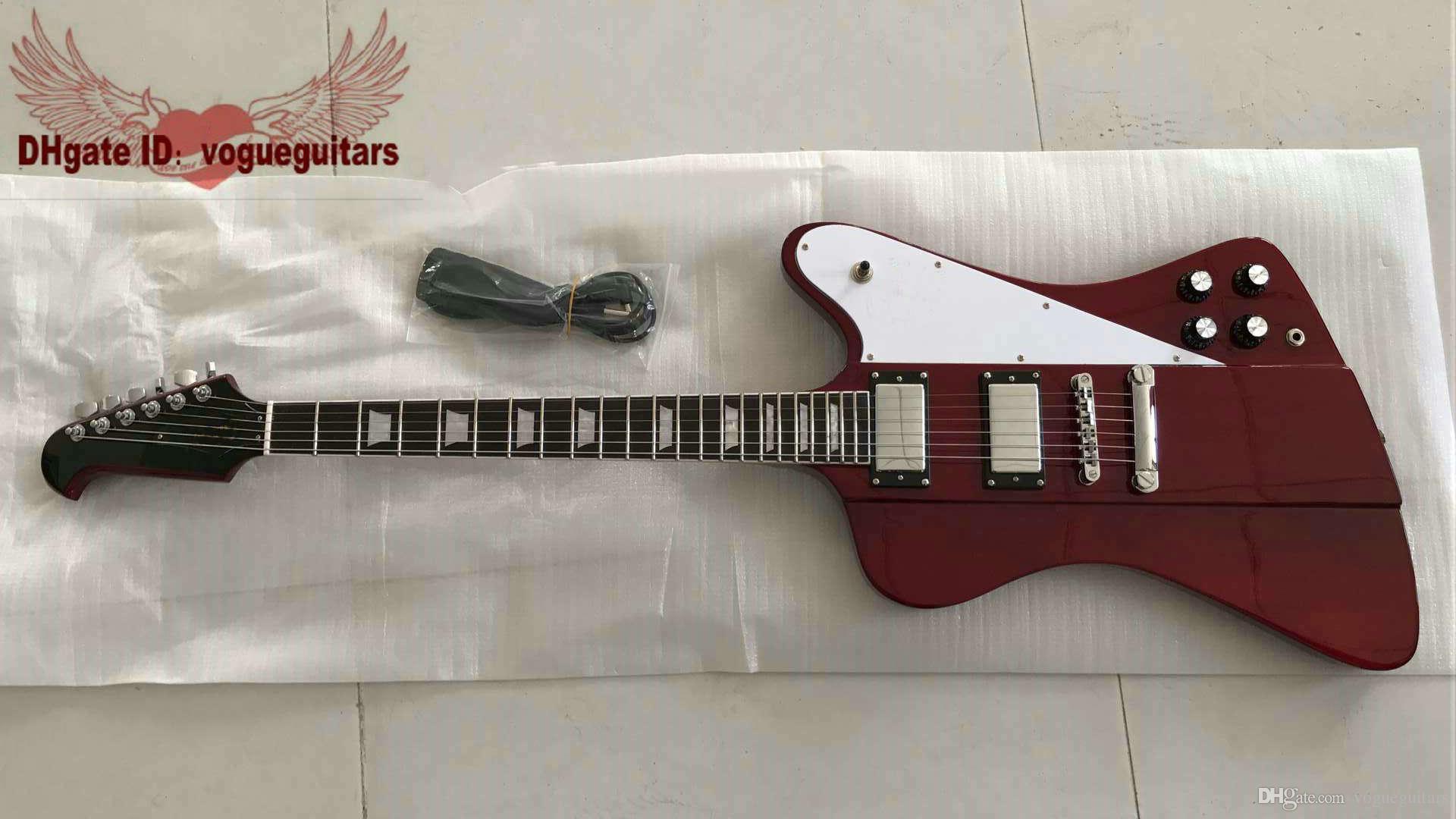 Özel Kırmızı Thunderbird 6 Strings Elektro Gitar Yüksek Kaliteli Müzik aletleri Yüksek Ucuz