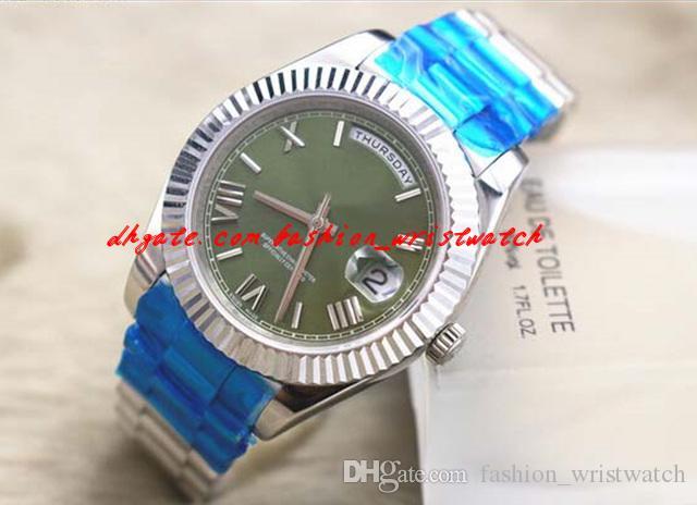 Fashion Luxury Armbanduhr UNGETRAGEN 41mm White Gold - Green Roman - 228238 Automatische mechanische Bewegung Herrenuhr Herrenuhr Uhren