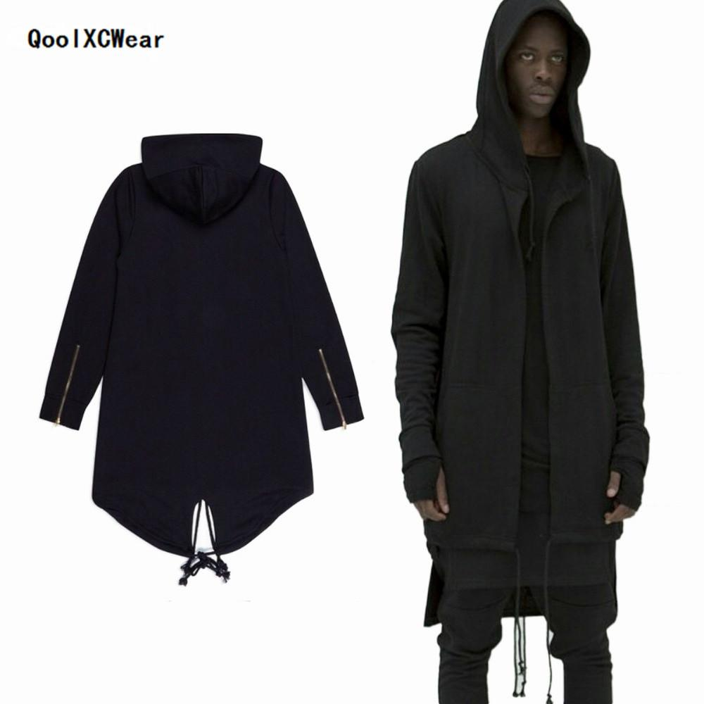 QoolXCear Hoodies 남성 / 여성 두건이있는 망토 플러스 롱 쇼울 더블 코트 코트 자객 Creed Jacket Streetwear Oversize