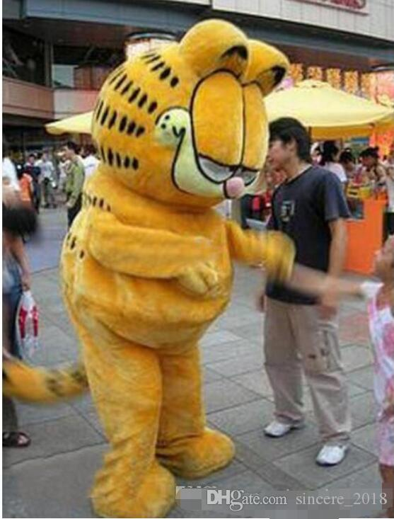 2019 Hot Adult Sale Garfield Cat Mascot Costume Fancy Party game Cosplay Dress