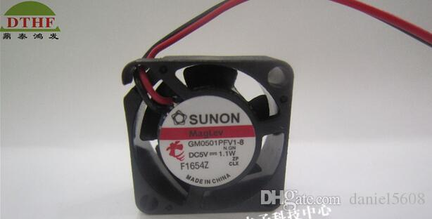 SUNON 2010 5V 2CM GM0501PFV1-8 1.1W 2 lignes grand ventilateur de volume d'air micro